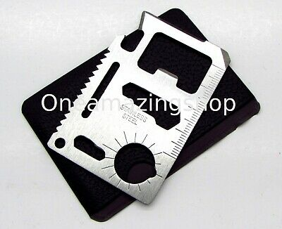 11 in 1 Credit Card Wallet Purse Pocket Multi Function Survival Camping Tool New