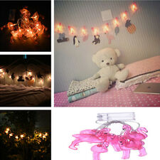 Flamingo Fairy LED String Lights Pink for Party Patio Porch Wedding Party Decor