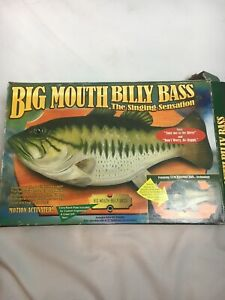VINTAGE-1999-BIG-MOUTH-BILLY-BASS-THE-SINGING-SENSATION-With-BOX-FISH-GIFT