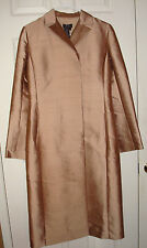 BCBG Max Azria Champagne Pink Silk Wool Blend Long Dressy Coat Jacket Size 4