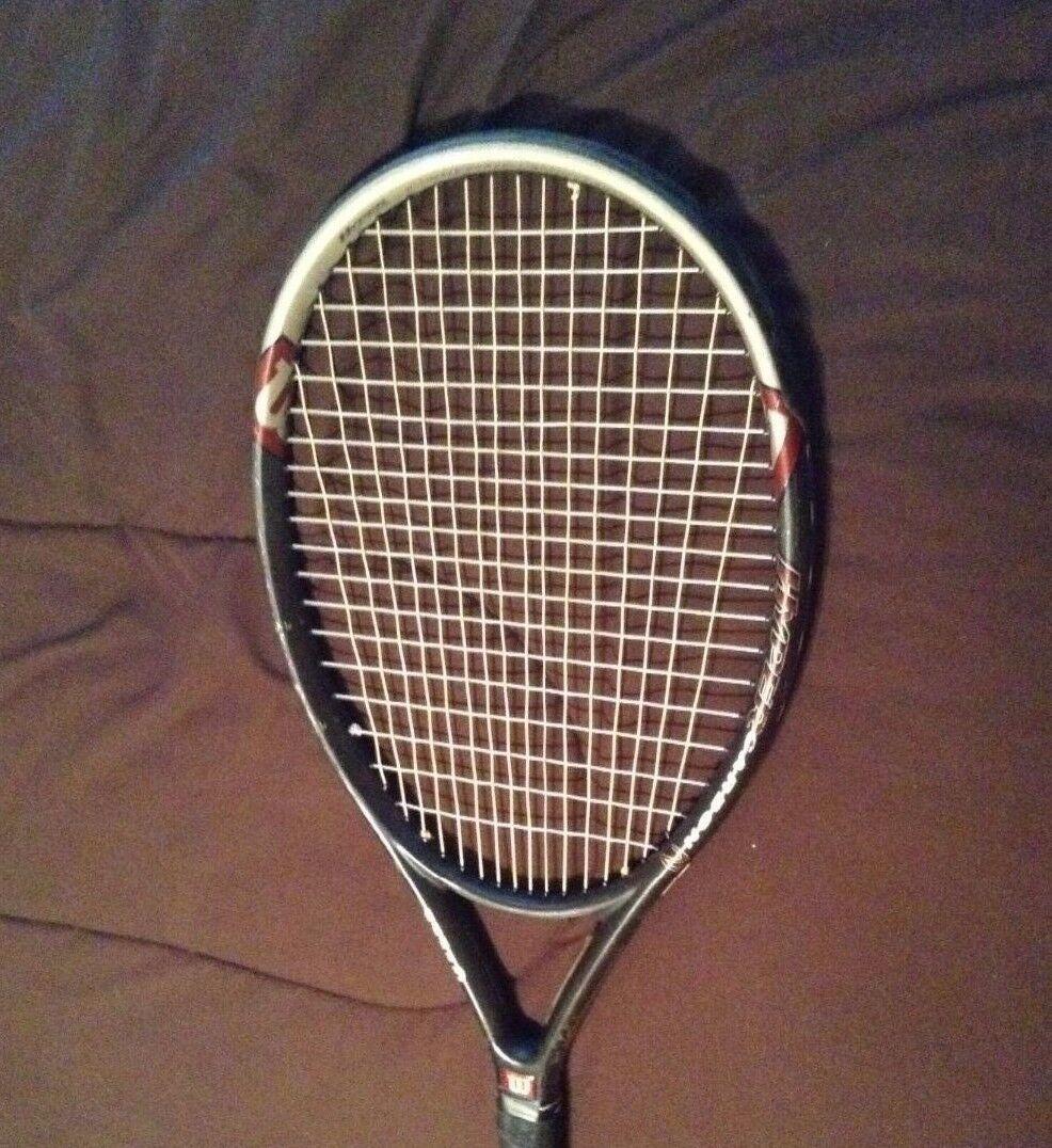 Wilson Hyper Hammer 3.3 Stretch 135 los límites Encordada Raqueta De Tenis 4-3 8  Como Nuevo
