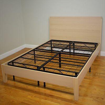 Mattress Bed Frame Full Size No Noise Base Box Spring Metal