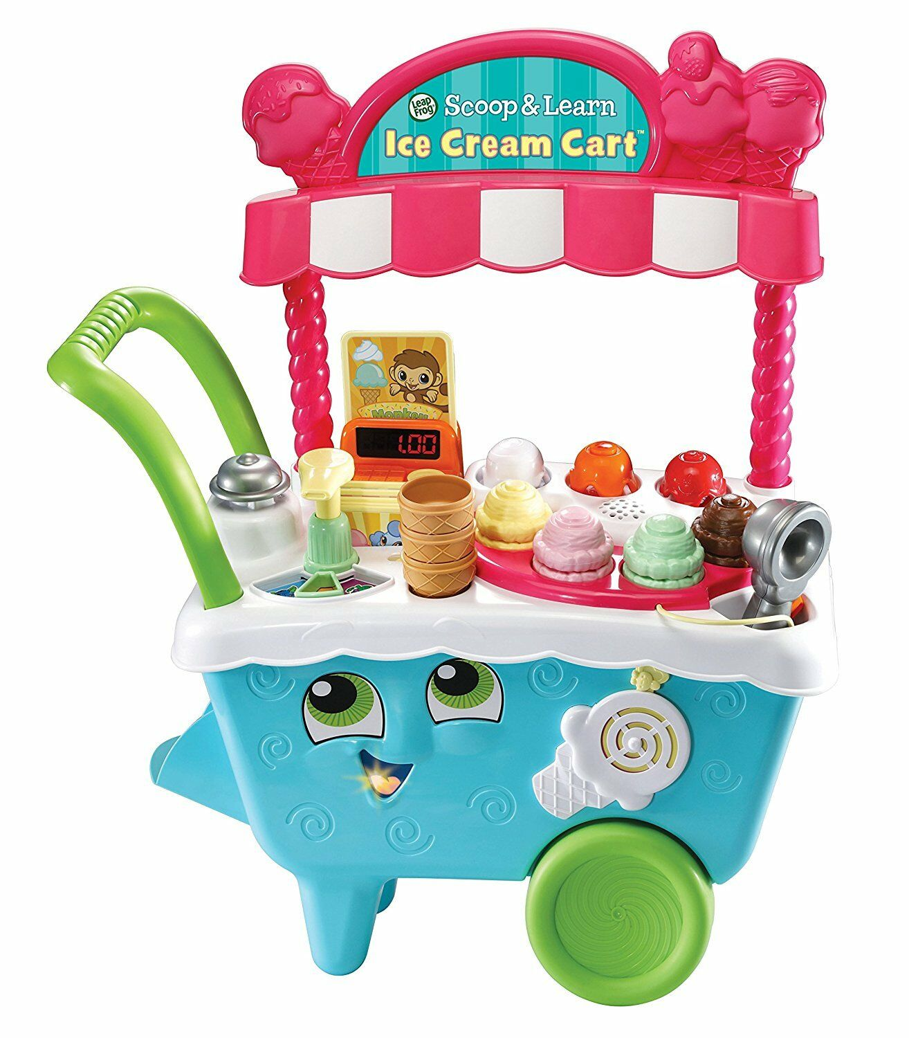 LeapFrog Scoop & Learn Ice Cream voituret  Leap Frog Iced Cream Stand  BRAND nouveau