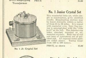 VINTAGE-1920s-RITTENHOUSE-ADVERTISING-BROCHURE-W-PRICES-CRYSTAL-RADIO-HEADSET