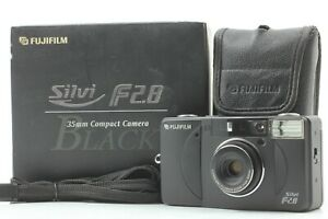 Look Rare in Box Fuji Fujifilm Silvi f2.8 Black 35mm Film Camera JAPAN