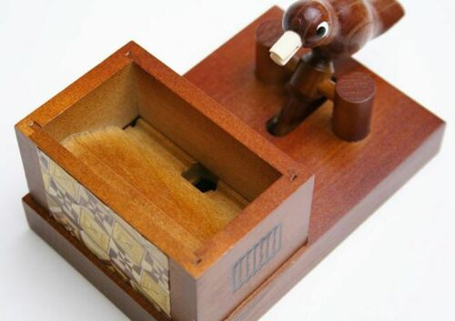 "Karakuri animal Yosegi zaiku  /""toothpick bird/"" made in japan hakone"