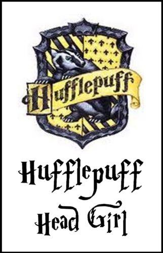Tassorosso HEAD GIRL Hogwarts Harry Potter novità scherzo divertente PORTACHIAVI A 2 lati