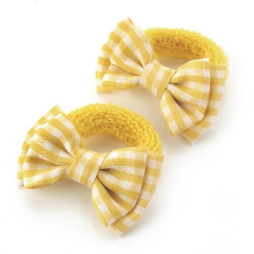 2x Vichy cheveux arcs filles élastique de cheveux élastique bébé Ponio School Cheveux Bandes élastiques