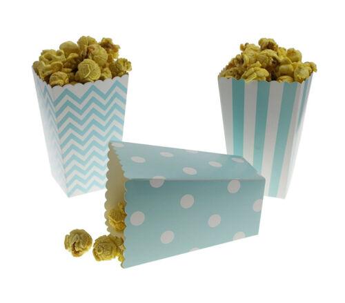 12pcs Papier Popcorn Candy sanck Boîtes-cadeaux pour Bébé Douche Fête De Mariage Decor