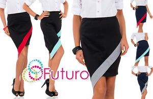 Womens-Cut-Out-Wrap-Asymmetrical-Skirt-Elastic-Waist-New-Formal-Size-8-12-FK1272