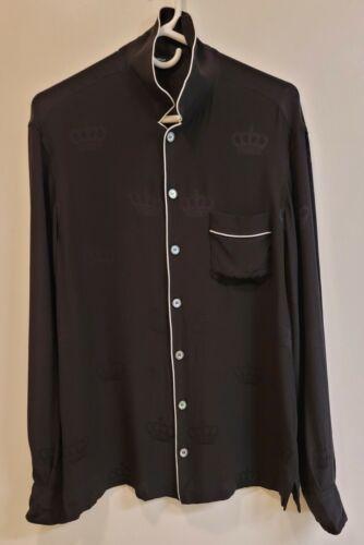 Dolce & Gabbana Silk Pajamas Men's Size Small Blac