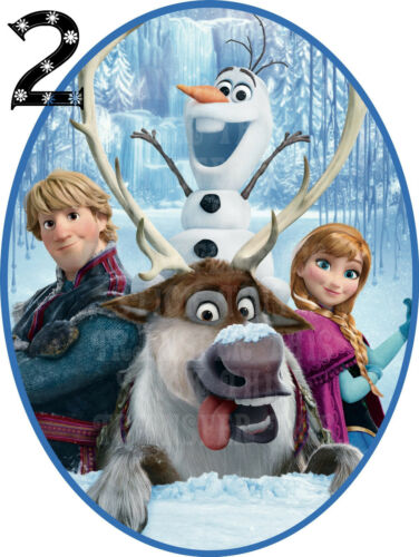 FROZEN DISNEY ANNA ELSA SVEN OLAF WALL STICKER DECO DECAL PERSONALISED LOT MB