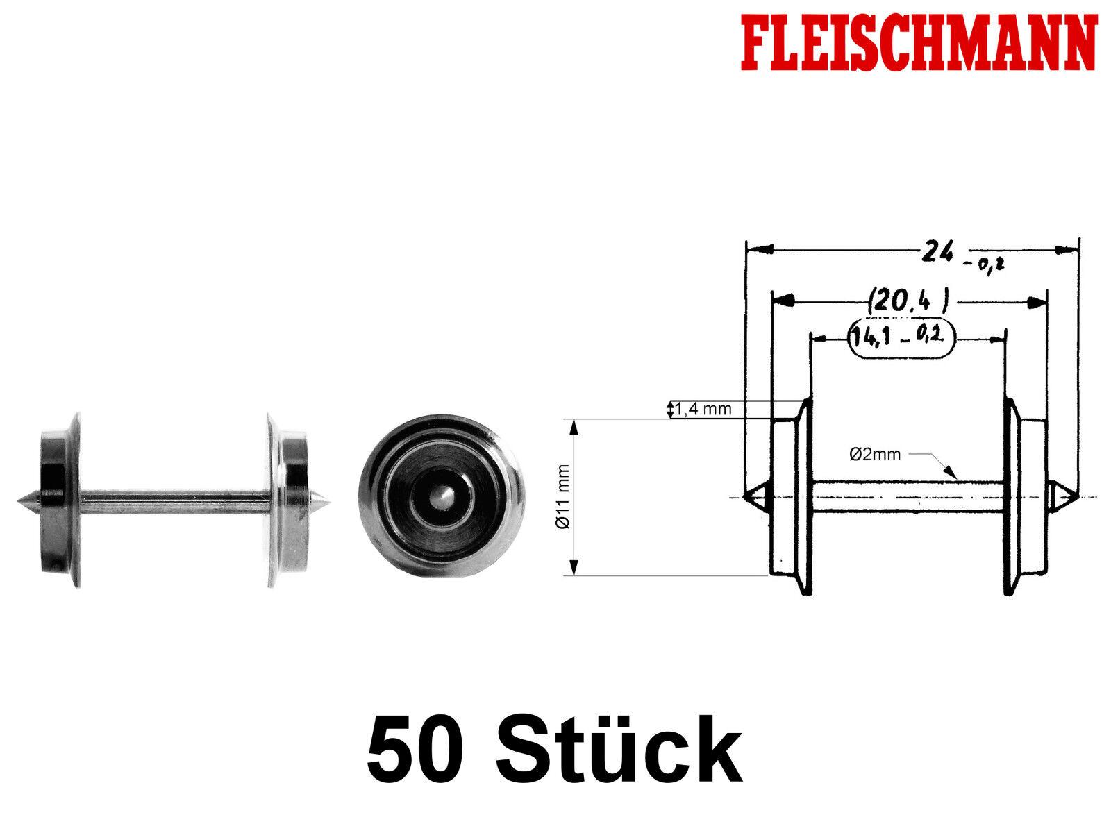 Fleischmann 6560 h0 corrente alternata assale ø11mm  50 PEZZI  + + Nuovo + +