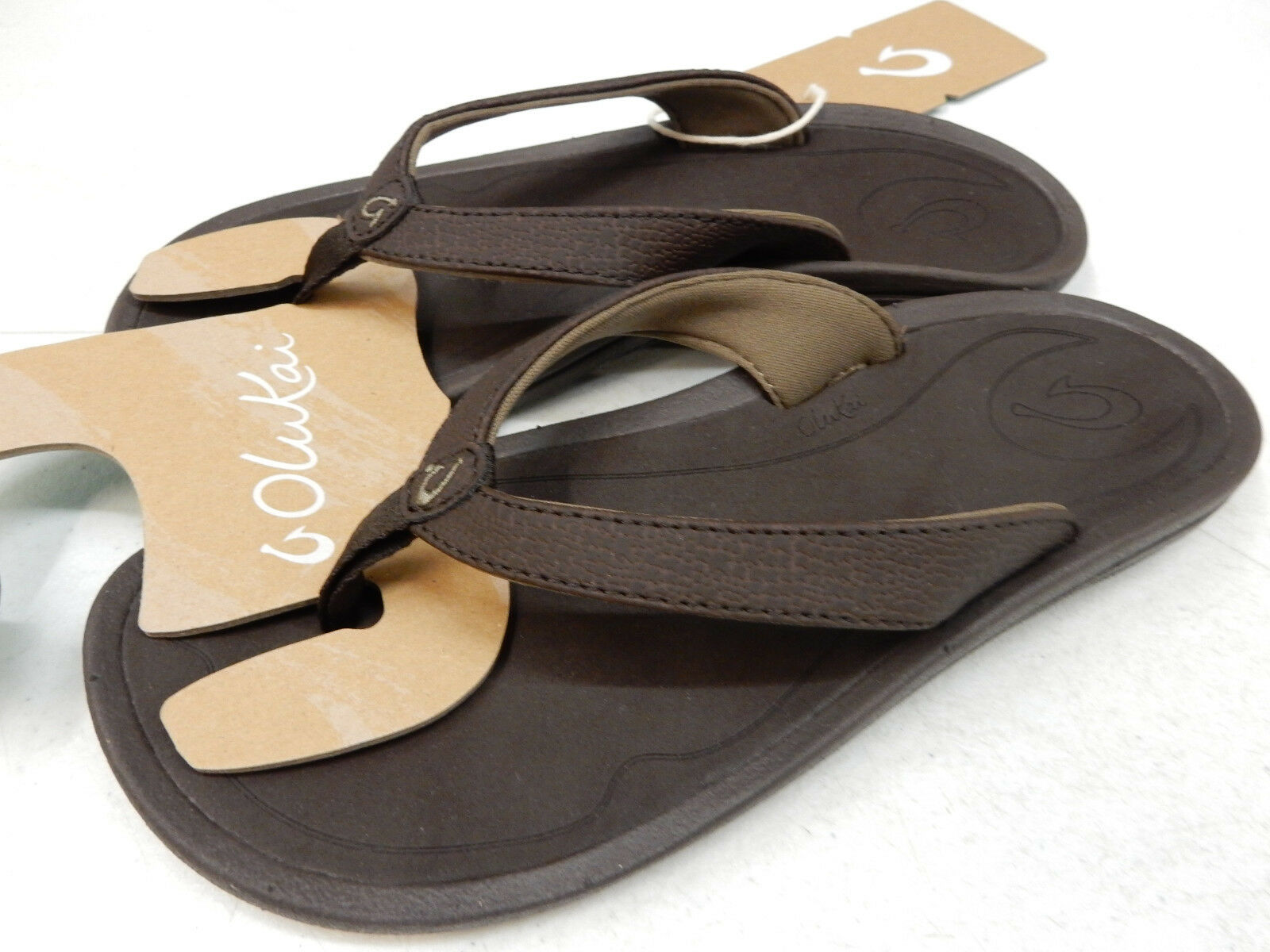 OLUKAI Damenschuhe SANDALS KULAPA KAI DARK JAVA DARK WOOD SIZE 9