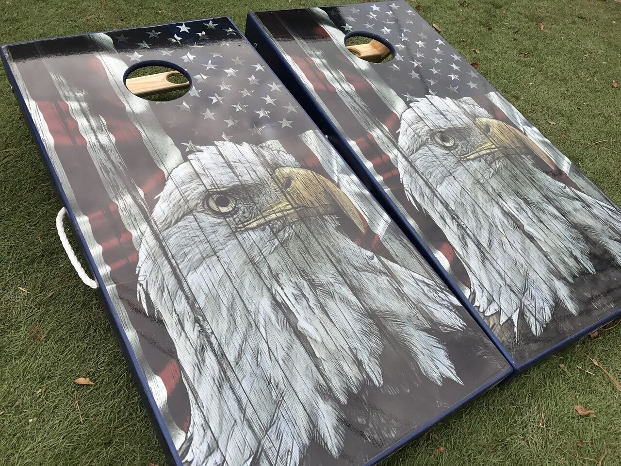 American Flag Bald  Eagle Rustic Set  world famous sale online