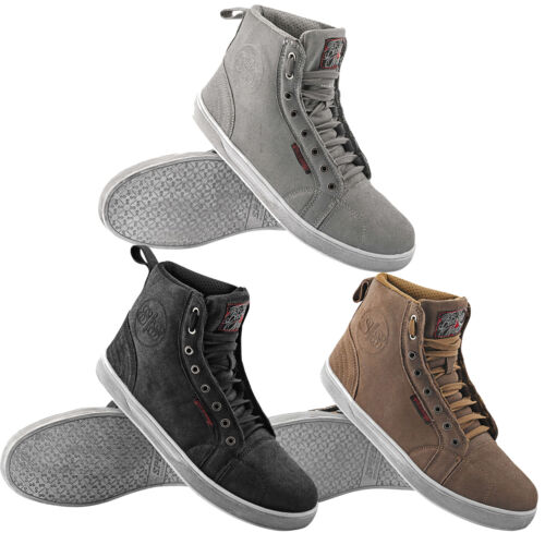 Speed and Strength Men/'s Black Nine Moto Shoes Sneaker Style