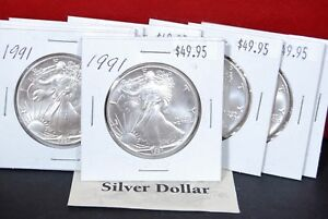 1991-Silver-American-Eagle-BU-Coin-1-oz-US-1-Dollar-Uncirculated-Mint-Brilliant