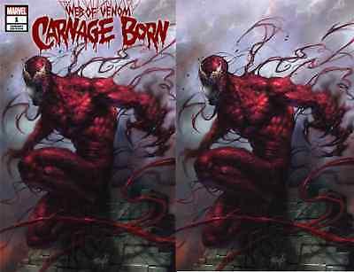 WEB OF VENOM CARNAGE BORN 1 LUCIO PARRILLO VIRGIN VARIANT 2 PACK SET NM