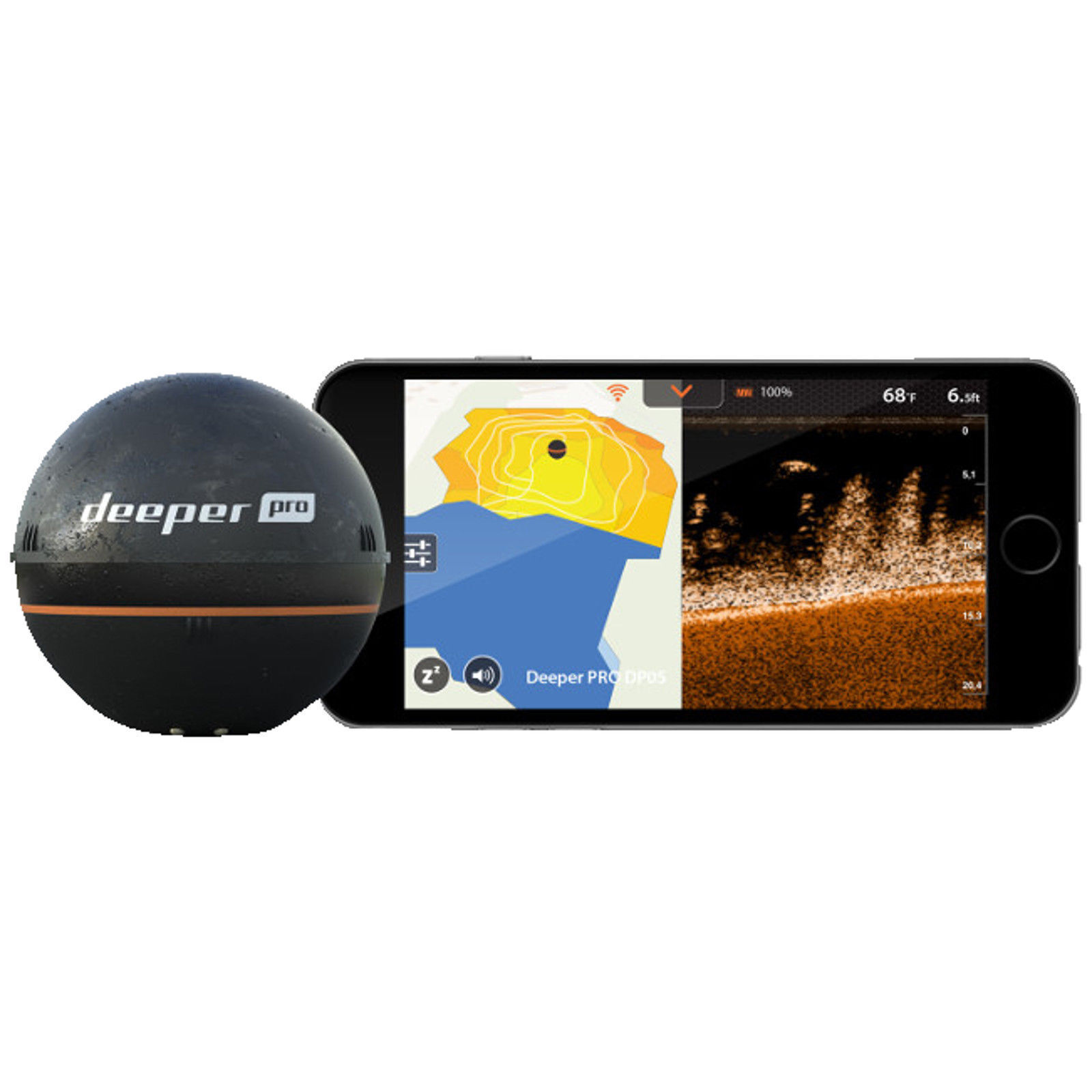 Deeper PRO PLUS ANGEBOT WIFI GPS Smart Sonar +Handy +Handy Sonar Halterung +Night Cover f4c3b7