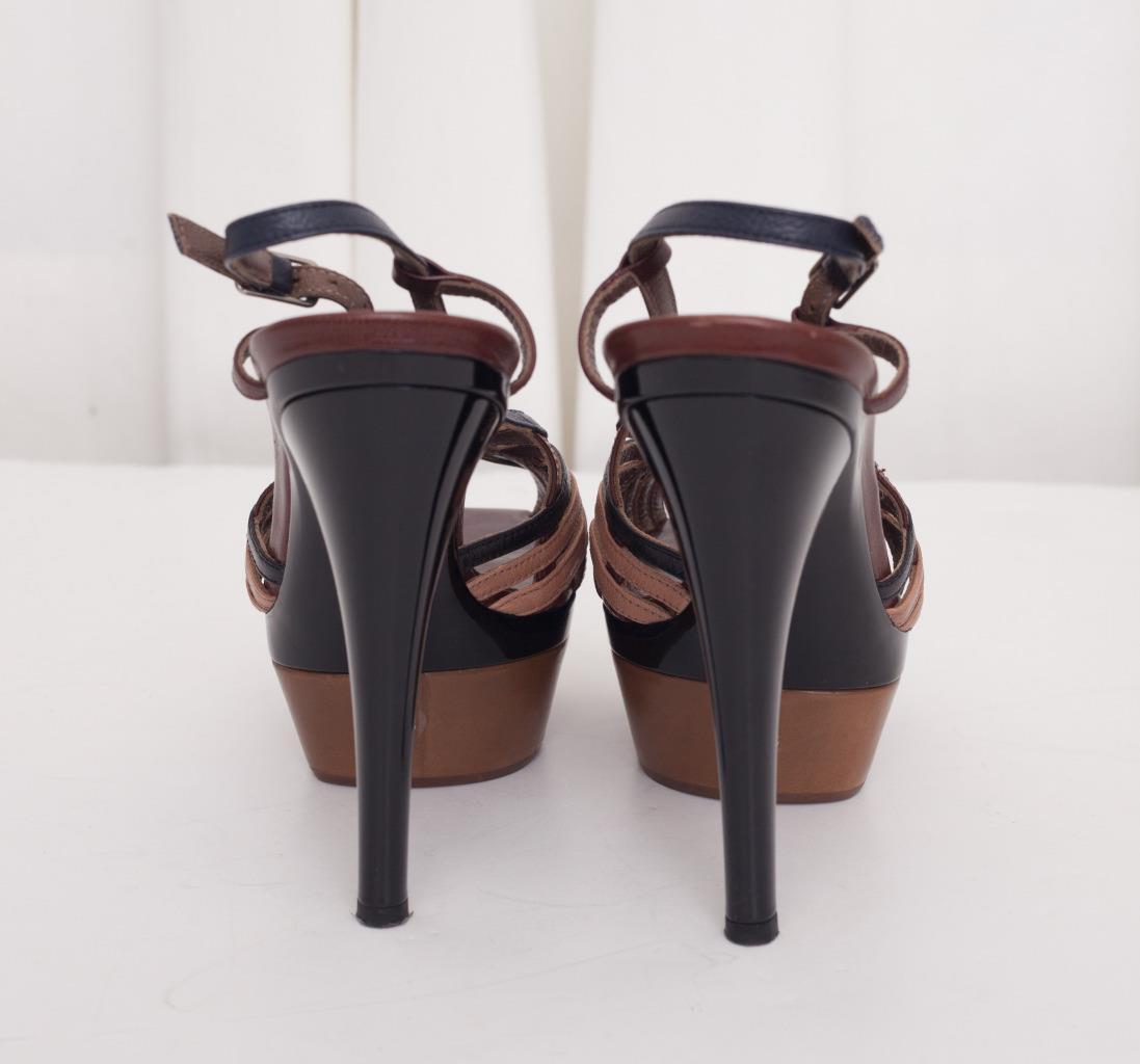 MARNI Damenschuhe Multicolor Open-Toe Strappy Slingback Platform Heel Stiletto 8-38 8-38 Stiletto 4d3d0c