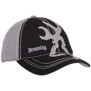 f68d139870110 Browning Men s Buckmark Distressed Logo 2-Tone Baseball Cap Black ...
