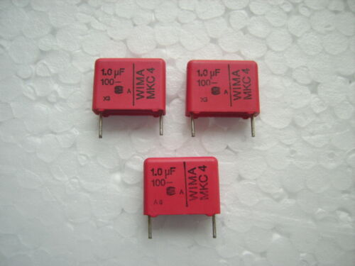 1,0 µF// 1000 nf  100 Volt DC  Folienkondensator WIMA MKC 4 3 STCK.