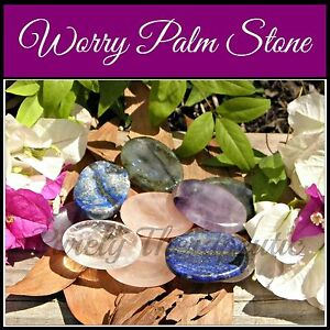 WORRY-PALM-STONE-Gemstone-Crystal-Labradorite-Amethyst-Clear-Rose-Quartz-Lapis