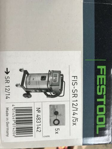 Extraction Bags Box Of 5 New Festool FIS SR 12//145x Hoover
