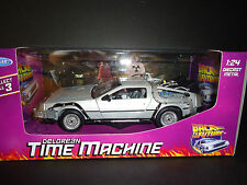 WELLY 1/24 Scale Diecast Metal Delorean Timemachine Back to The Future Part I