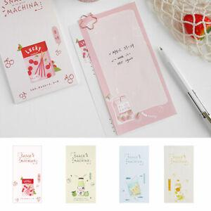 Kawaii-boissons-Portable-Memo-Pad-QUOTIDIENNEMENT-A-faire-soi-meme-Tear-off-Message-Bloc-notes
