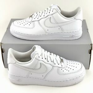 Details about Nike Air Force 1 07 LE Low Women's Sneakers Shoes Triple  White AF1 315115 112