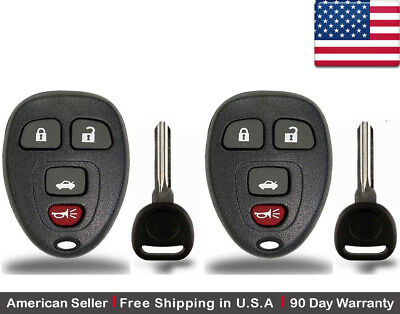 Buick GMC OUC60270, OUC60221 Saturn Cadillac Set of 2 Car Key Fob Keyless Entry Remote with Ignition Key fits Chevy
