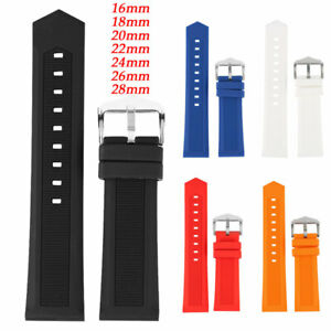 16-28mm-Silicone-Rubber-Bracelet-Waterproof-Sport-Wrist-Watch-Band-Strap-Durable