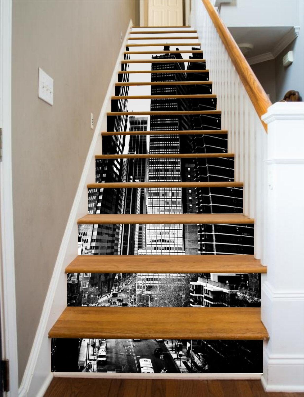 3D City road 327 Stair Risers Decoration Photo Mural Vinyl Decal Wallpaper UK