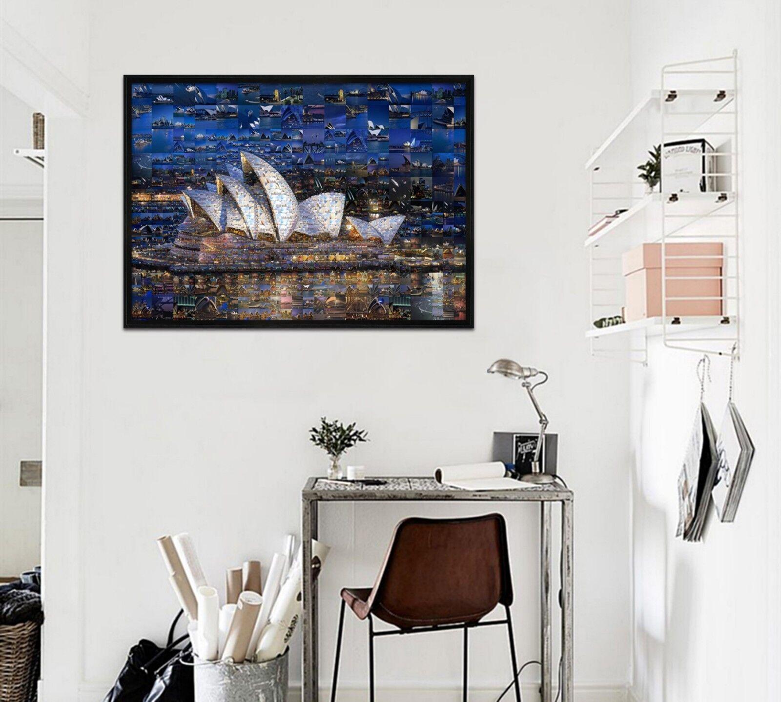 3D Sydney Opera House 1 Framed Poster Home Decor Print Painting Art AJ WALLPAPER