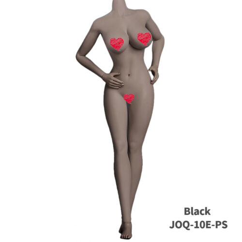 """JIAOU DOLL 1//6 Female Flexible Seamless Silicone Body 12/"""" Action Figure Model US"""