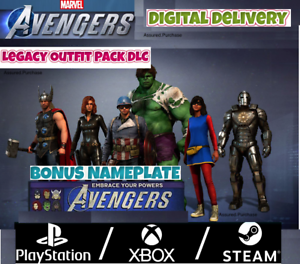 Marvel-039-s-Avengers-DLC-Legacy-Outfit-Pack-Nameplate-Pre-Order-Bonus-PS4-XBOX-PC
