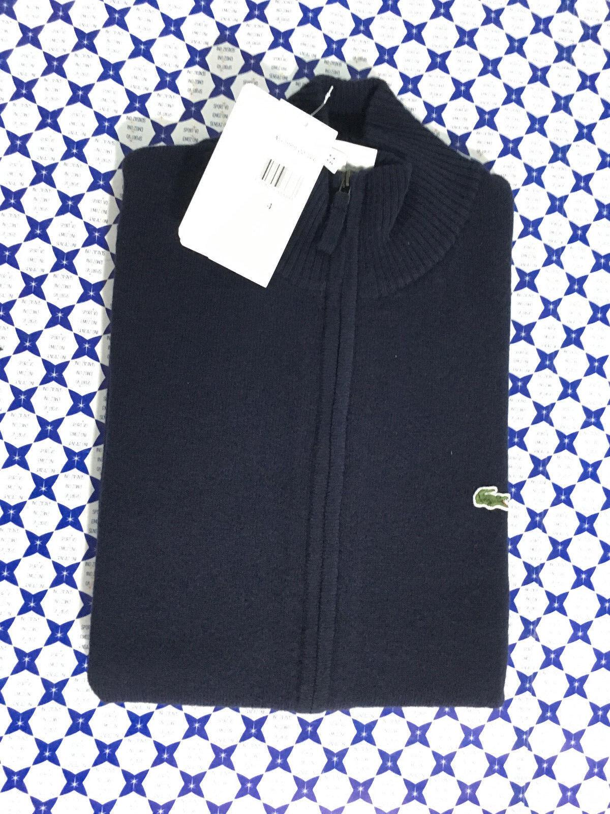 Cardigan Lacoste Uomo - Lana Cerniera Pure Pure Pure New Wool - Blu Navy - AH2999 682396