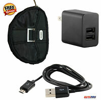 Samsung Tab 4 Nook 2amp Charger 2 Port Charging Usb Cable Barnes & Noble +case