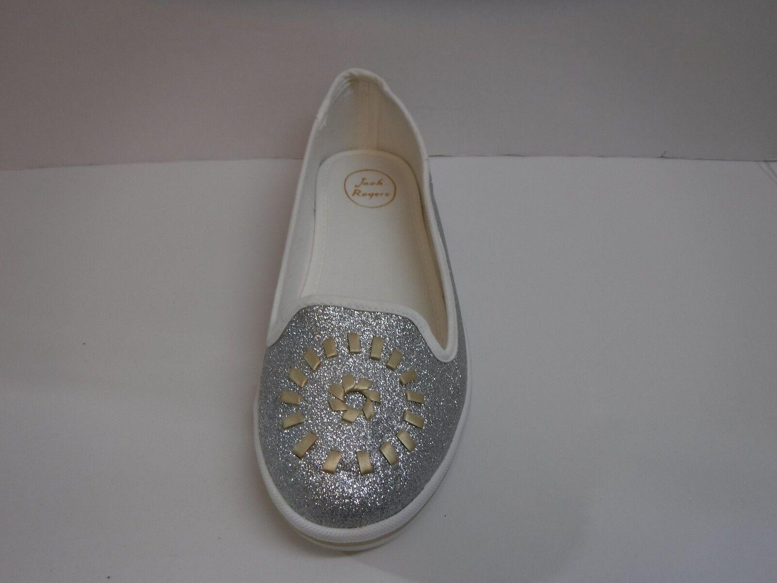 Jack Glitter Rogers Größe 8.5 Silver Glitter Jack  Loafers Flats New Damenschuhe Schuhes 01af17