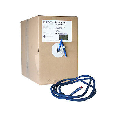 250 Feet 14AWG In-Wall Dark Blue Speaker Cable. 14/4 Wire. 99.99% Copper (Box)