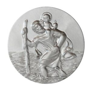 Stocknagel Heiliger Sankt St Accessoires Christophorus Relief Plakette Metall Stockschild