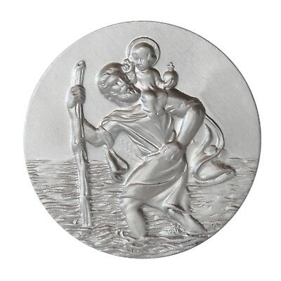 Christophorus Stocknagel Metall Stockschild Relief Plakette Heiliger Sankt St