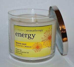 New Bath Amp Body Works Aromatherapy Energy Lemon Zest