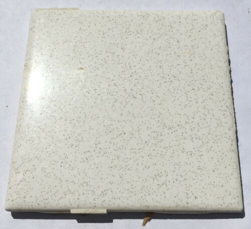 Vintage Salvaged 4x4 Tiles /'Robertson/' 1 Sq in White Speckles Ft