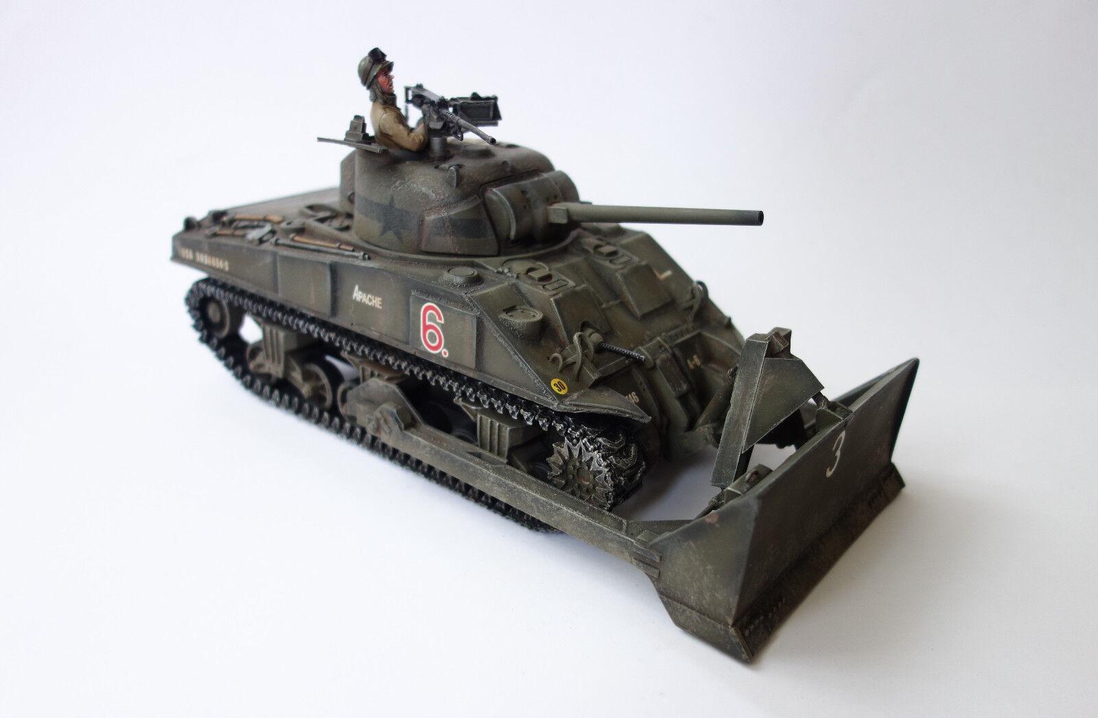 Figarti Miniatures US Sherman M4 with Dozer Blade , 1 30 ETA-004 Limited Edition