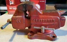 Vintage Craftsman Bench Vise 506 51801 3 12 Jaws Swivel Base Pipe Clamp Usa