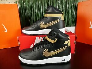 Details about Nike Air Force 1 High LV8 Sport AF1 NBA Black Gold Fashion  AV3938,001 Multi Size