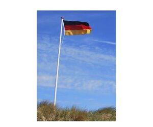Fahnenmast 620cm Deutschlandfahne  Fahne Mast  Alumast Deutschland Flaggenmast