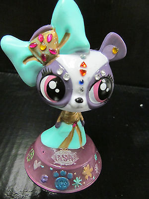 Littlest pet shop purple panda Penny Ling custom hand painted and embellished